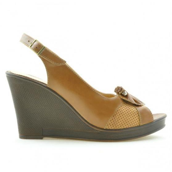 Women sandals 5002 brown cerat