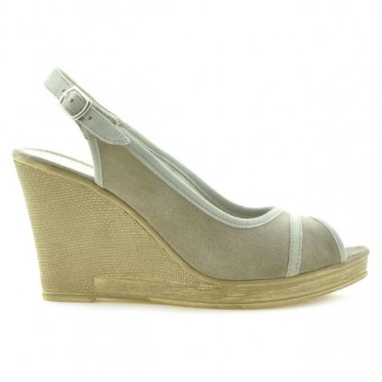 Sandale dama 5000 nisip velur