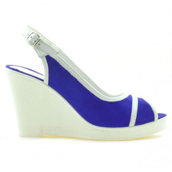 Women sandals 5000 indigo velour+white