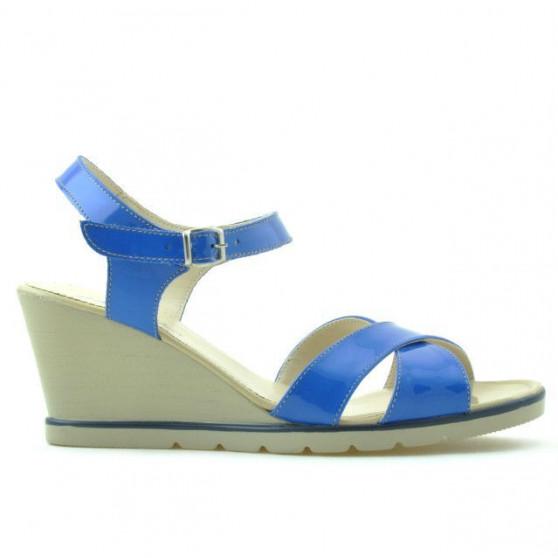 Women sandals 5007 patent blue