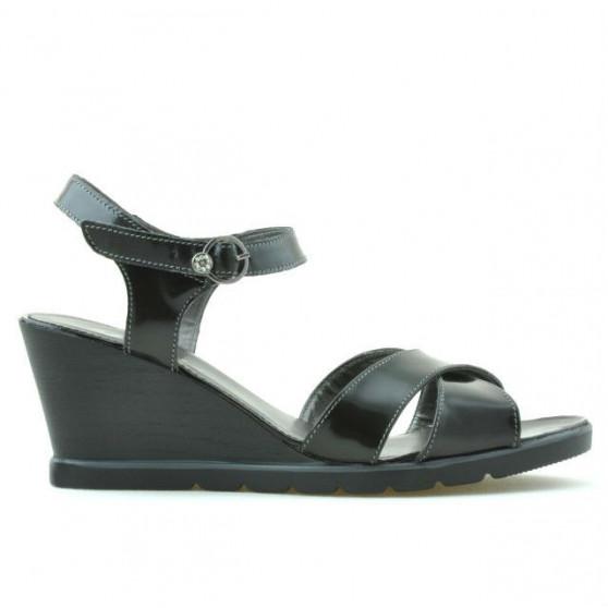 Women sandals 5007 patent black