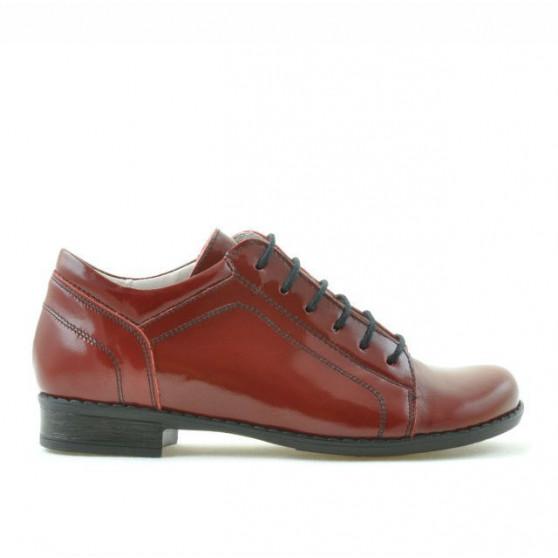 Children shoes 122 patent bordo
