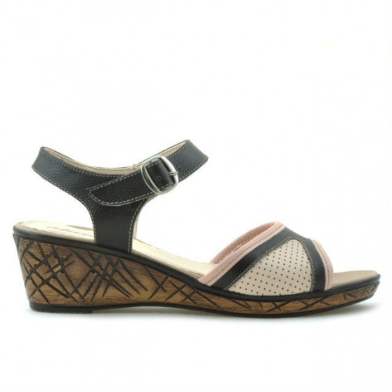 Women sandals 5005p cafe+pink perforat