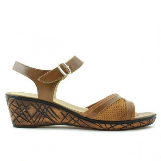 Sandale dama 5005p maro cerat perforat