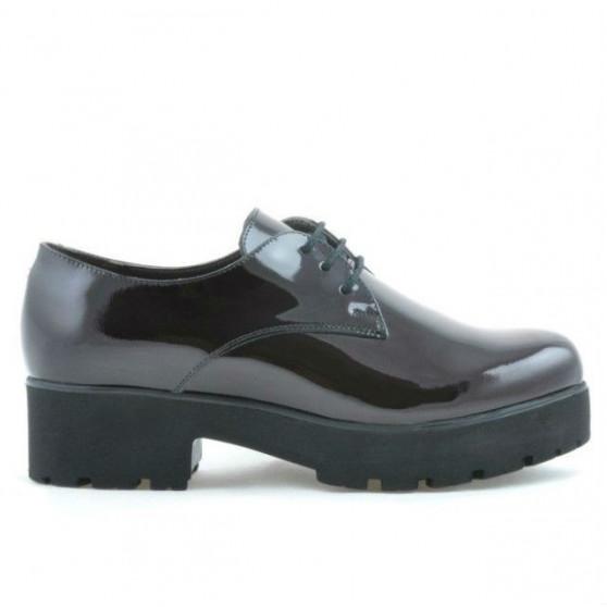 Women casual shoes 660 patent bordo