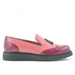 Pantofi casual dama 659 lac fucsia combinat