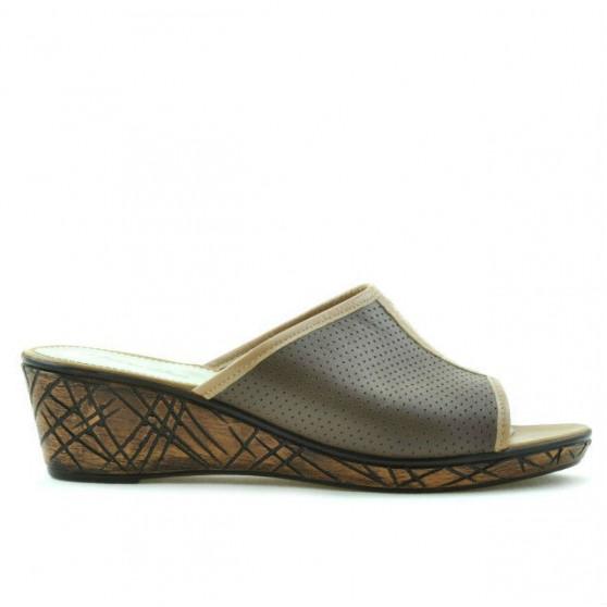 Sandale dama 5004m p capucino combinat perforat