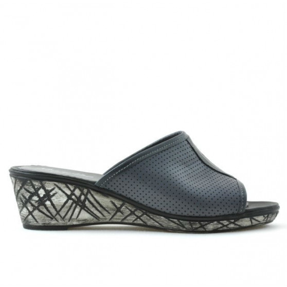 Women sandals 5004p gray perforat