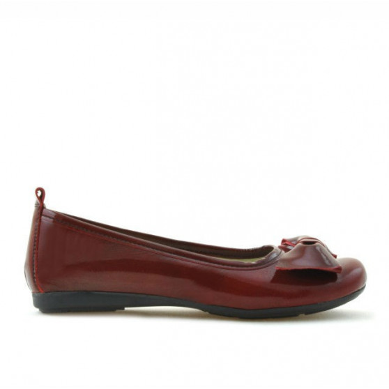 Children shoes 141 patent bordo