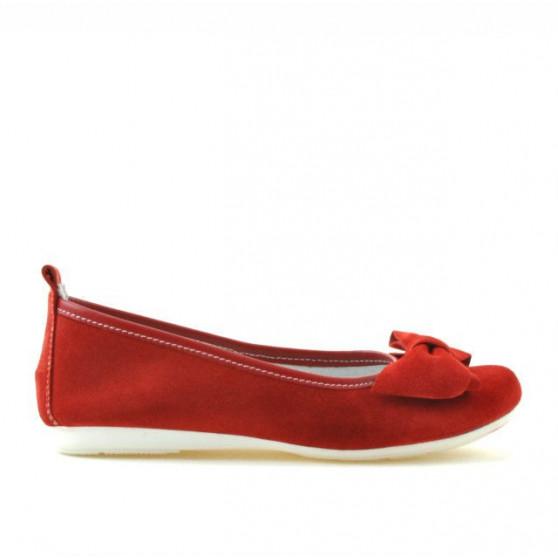 Pantofi copii 141 rosu velur