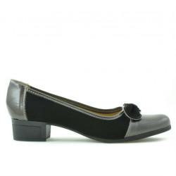 Pantofi casual / eleganti dama 650 lac aramiu combinat