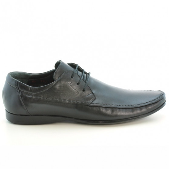 Men stylish, elegant, casual shoes 862 black