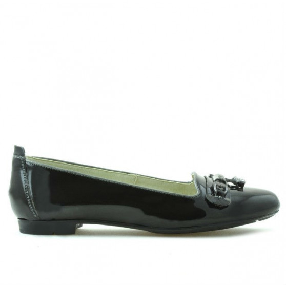 Women casual shoes 639 patent black