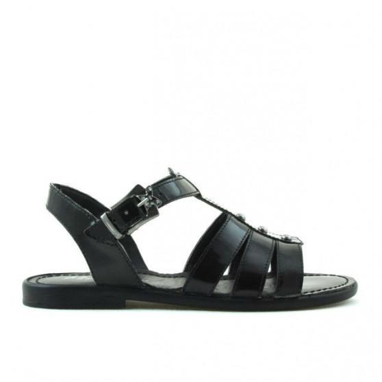 Children sandals 530 patent black