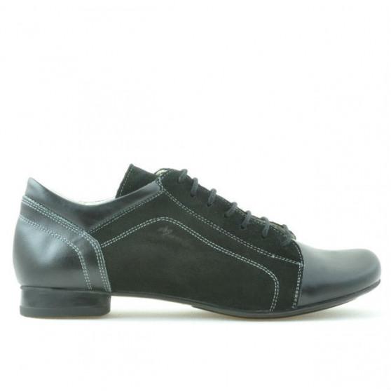 Pantofi casual dama 645 negru combinat