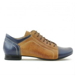 Pantofi casual dama 645 indigo+maro
