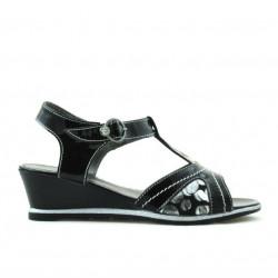 Children sandals 533 patent black combined