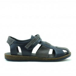 Children sandals 324 indigo+gray