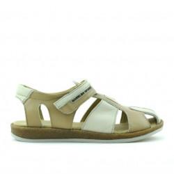 Children sandals 324 brown+beige