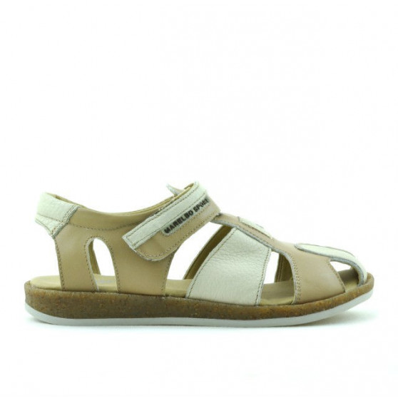 Children sandals 324 brown+beige