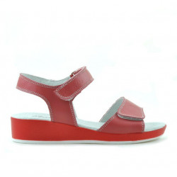 Children sandals 532 red coral