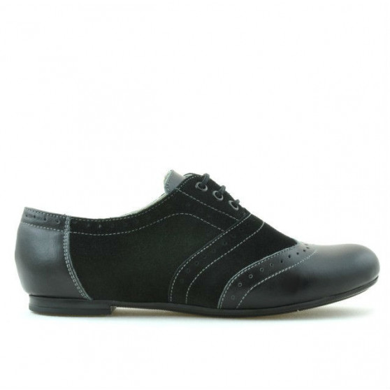 Pantofi casual dama 186 negru combinat