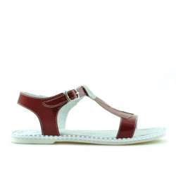 Children sandals 534 patent red