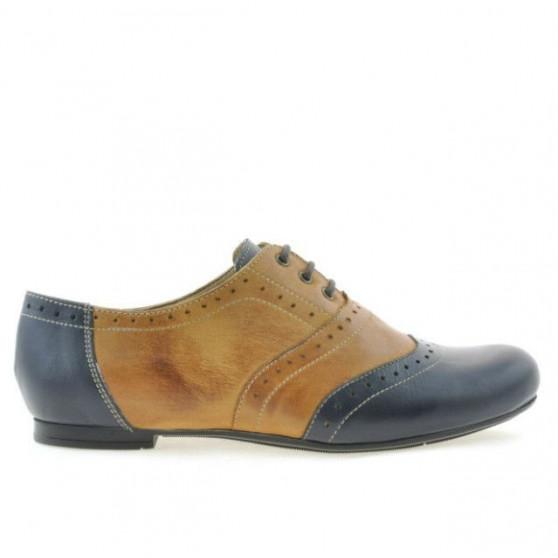Women casual shoes 186 indigo+brown