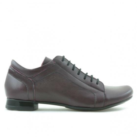 Pantofi casual dama 645 bordo