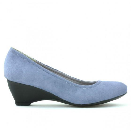 Pantofi casual dama 152-1 bleu velur