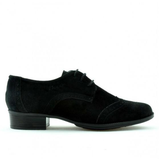 Pantofi casual dama 691 negru velur