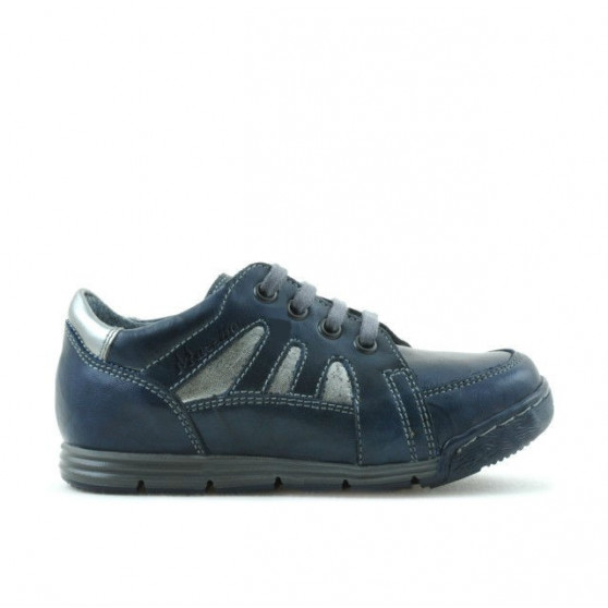 Pantofi copii mici 04c indigo+gri