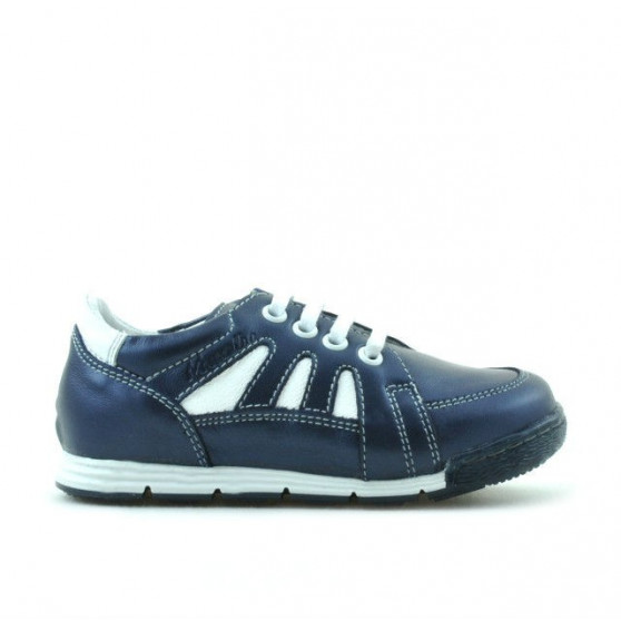 Small children shoes 04c indigo+white