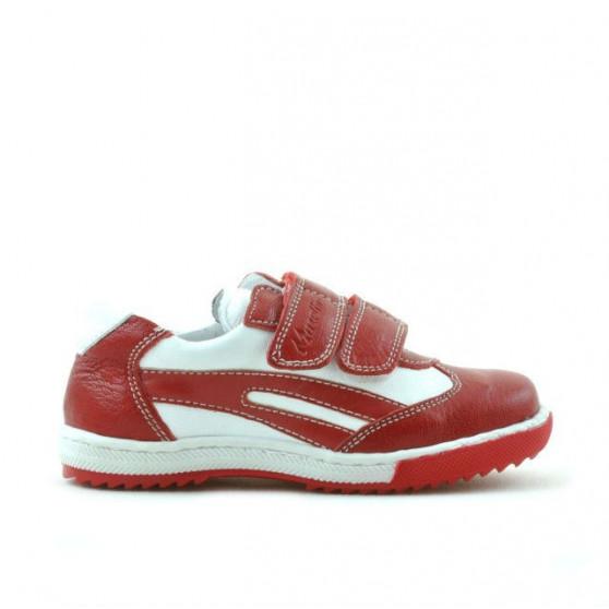 Pantofi copii mici 16c rosu+alb
