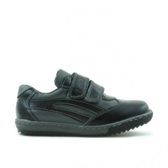 Small children shoes 16c black+gray