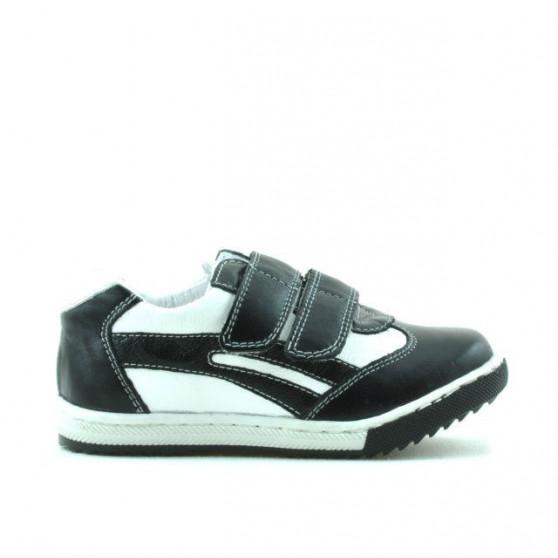Pantofi copii mici 16c negru+alb