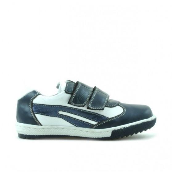 Small children shoes 16c indigo+white
