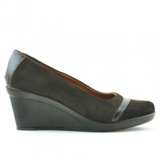 Women casual shoes 647 cafe velour