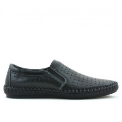 Men loafers, moccasins 820 black