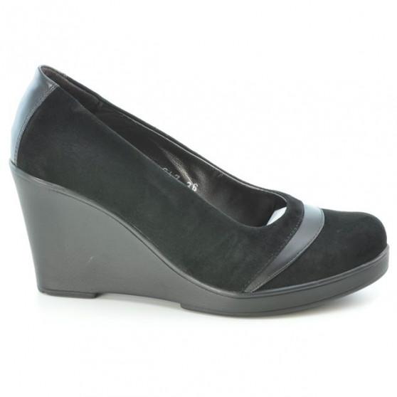 Women casual shoes 647 black velour