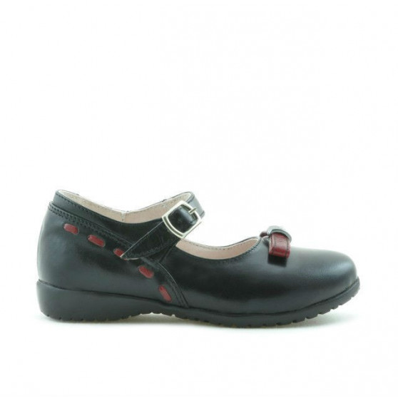 Small children shoes 12c black+bordo