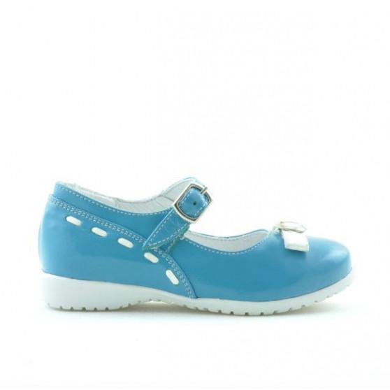 Pantofi copii mici 12c lac turcoaz