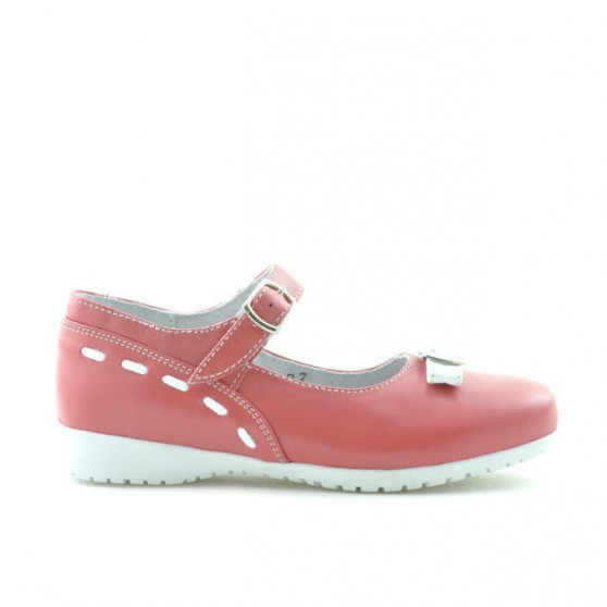 Small children shoes 12c red coral+white