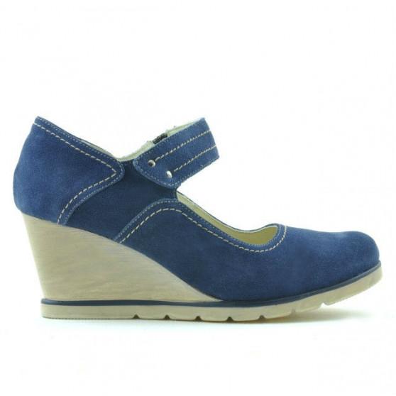 Women casual shoes 199 indigo velour