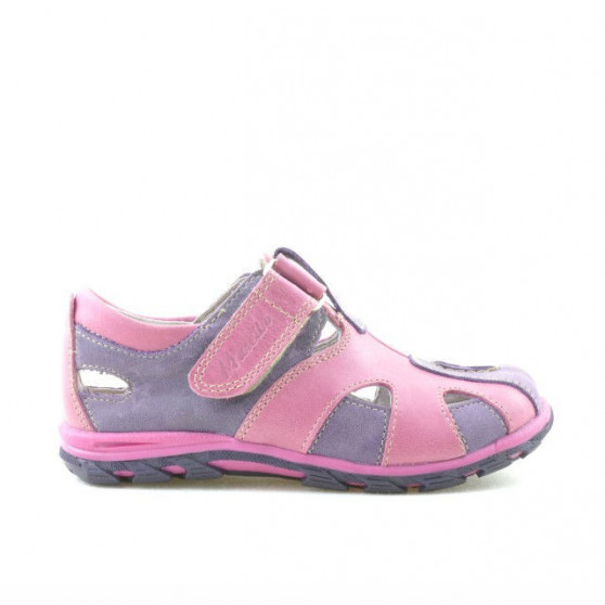 Small children shoes 07c purple+pink