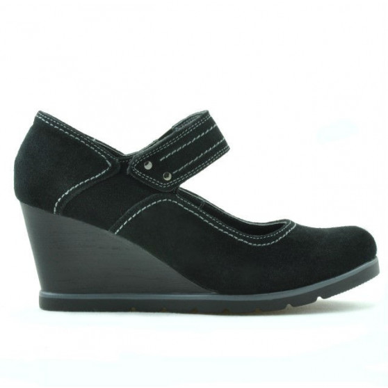 Women casual shoes 199 black velour