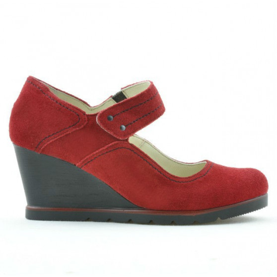 Women casual shoes 199 red velour