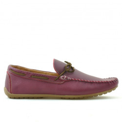 Men loafers, moccasins 863 bordo