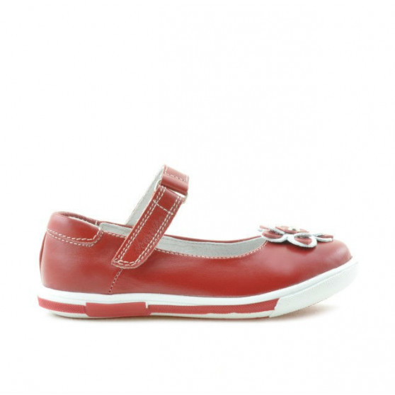 Pantofi copii mici 06c rosu+alb