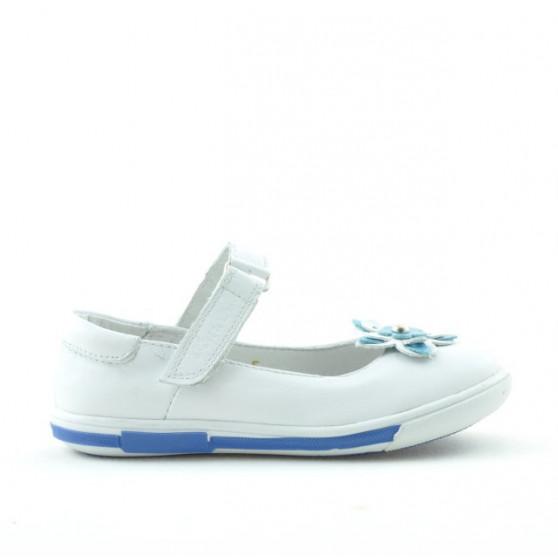 Pantofi copii mici 06c alb+bleu